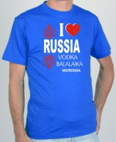 "Футболка "" I love Russia, vodka"""